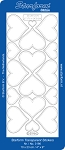 Starform Clear & Stitchable Peel Off Stickers - Clear Stitching Hearts (Gold)