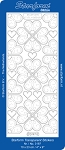 Starform Clear & Stitchable Peel Off Stickers - Clear Stitching Heart Corners (Gold)
