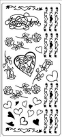 Sticker King Peel Off Stickers - I Love You Roses (Silver)