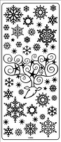 Sticker King Peel Off Stickers - Snowflakes (Gold)