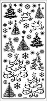 Sticker King Peel Off Stickers - Holiday Trees (Silver)