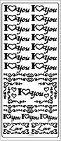 Sticker King Peel Off Stickers - I Heart You (Gold)