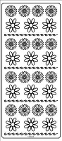 Sticker King Peel Off Stickers - Daisies (Gold)