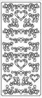 Sticker King Peel Off Stickers - Hearts (Gold)