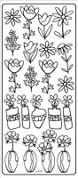 Sticker King Peel Off Stickers - Flower Vases 2 (Gold)