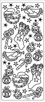 Sticker King Peel Off Stickers - Christmas Icons (Gold)