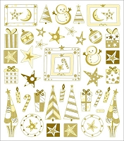 Sticker King-Flat Stickers-Ivory Christmas