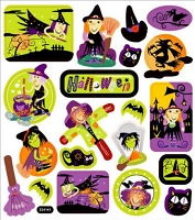 Sticker King-Flat Stickers-Halloween Witches