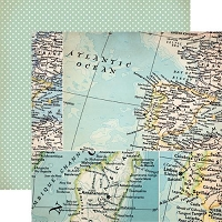 Studio Calico - Abroad Collection - 12X12 Paper - Calico Travel Departure