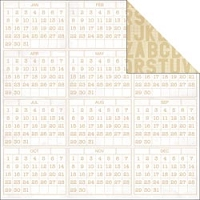 Studio Calico - Classic Calico Collection - 12x12 Paper - Timesheet