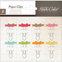 Studio Calico - Take Note Collection - Paper Clip Embellishments with Bows