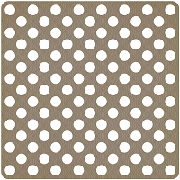 Studio Calico - Classic Calico Collection - 12x12 Die Cut Paper - Polka Dot Brown
