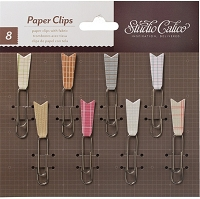 Studio Calico - Take Note Collection - Paper Clip Embellishments - Ledger Prints