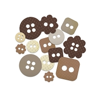 Studio Calico - Classic Calico Collection - Chipboard Shapes - Buttons