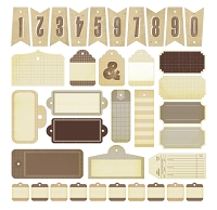 Studio Calico - Classic Calico Collection - Die Cut Cardstock Pieces - Tags