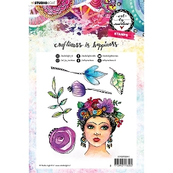 Studio Light - Flower Crown Art by Marlene Clear Stamp