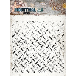 Studio Light - Industrial 2.0 - Diamond Plate Background Clear Stamp