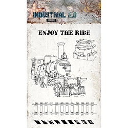 Studio Light - Industrial 2.0 - Enjoy The Ride Steam Train Clear Stamp Set