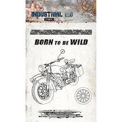 Studio Light - Industrial 2.0 - Born to be Wild Motorcycle Clear Stamp Set