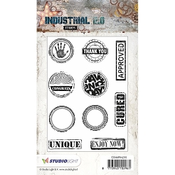 Studio Light - Industrial 2.0 - Words and Circles Clear Stamp Set