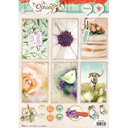 Studio Light - So Spring - Easy 3D Punched sheet of die cuts (rectangles)