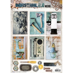 Studio Light - Industrial 2.0 - Easy 3D Punched sheet of die cuts