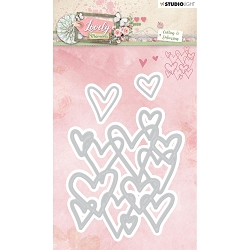 Studio Light - Lovely Moments - Heart Background Die Set