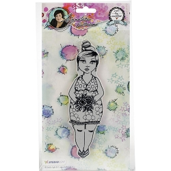 Studio Light - Chubby Chicks Flower Dress Art by Marlene Cling Stamp