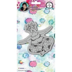 Studio Light - Chubby Chicks Yoga Art by Marlene Cling Stamp