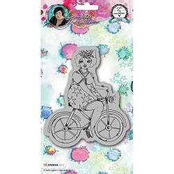 Studio Light - Chubby Chicks Bicycle Art by Marlene Cling Stamp