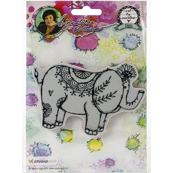 Studio Light - Elephant Art by Marlene Cling Stamp