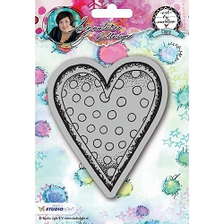 Studio Light - Heart Art by Marlene Cling Stamp