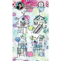 Studio Light - Beach Houses Art by Marlene Clear Stamp