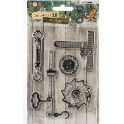 Studio Light - Industrial 3.0 - Hooks & Gears Clear Stamp