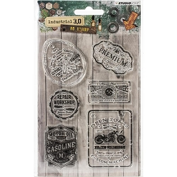 Studio Light - Industrial 3.0 - Signs & Tags Clear Stamp