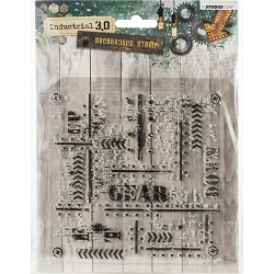 Studio Light - Industrial 3.0 - Gear Up Background Clear Stamp
