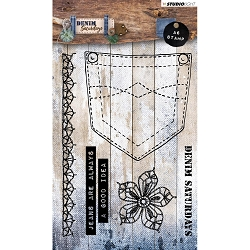 Studio Light - Denim Saturdays - Pocket & Lace Clear Stamp