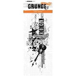 Studio Light - Grunge - Rock Music Large Clear Stamp