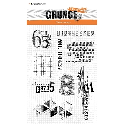 Studio Light - Grunge - Numbers Numbers Large Clear Stamp