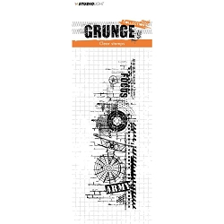 Studio Light - Grunge - Army Collage Clear Stamp