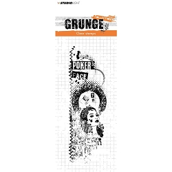 Studio Light - Grunge - Poker Face Collage Clear Stamp