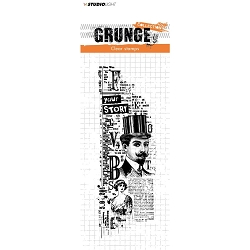 Studio Light - Grunge - Your Story Collage Clear Stamp