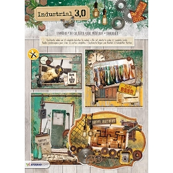 Studio Light - Industrial 3.0 Die-Cut Card Topper Pad