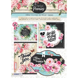 Studio Light - Die-Cut Card Topper Pad - Painted Peonies