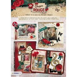 Studio Light - Die-Cut Card Topper Pad - Classic Rouge