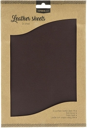 Studio Light - Dark Brown Faux Leather Sheets
