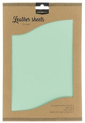 Studio Light - Light Teal Faux Leather Sheets