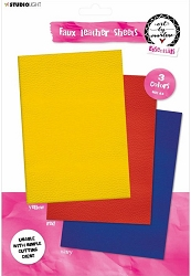 Studio Light - Red/Yellow/Navy Faux Leather Sheets