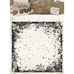 Studio Light - Winter Days - Grunge Christmas Background Clear Stamp