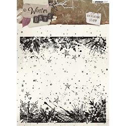Studio Light - Winter Days - Grunge Snowflake Background Clear Stamp
